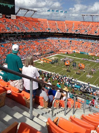 Sun Life Stadium: view from our seats
