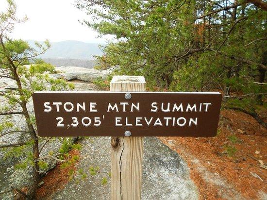 Stone Mountain State Park: Stone Mountain Summit