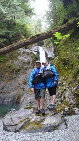 One Tree Paddles - Day Trips: In front of Lord Falls, just a few minutes hike from the beach