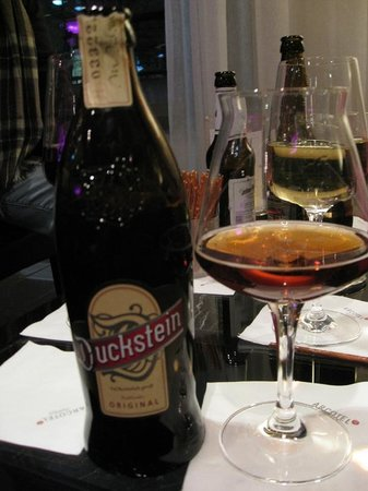 Arcotel John F: Duckstein beer in the bar area