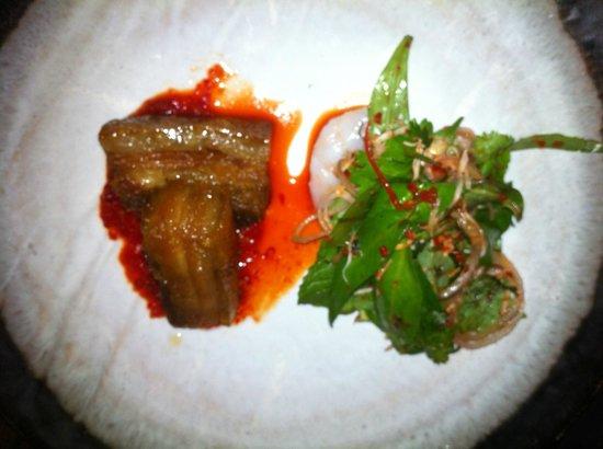 The Smith Restaurant & Bar: Sticky caramel pork with prawn & coconut salad