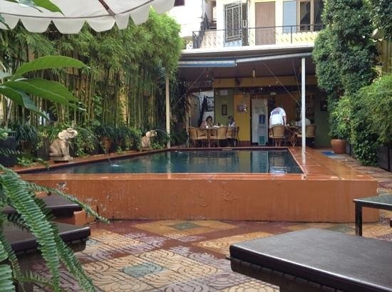 Manor House Boutique Hotel: a swim before breakfast, a perfect way to start the day in Phnom Penh...