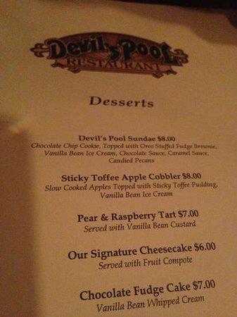Devils Pool Restaurant Sundae Is Excellent