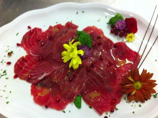 Chicco di Grano: carpaccio di tonno