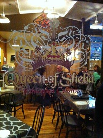 Queen of Sheba Ethiopian Cuisine: Queen of Shebah window