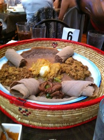 Queen of Sheba Ethiopian Cuisine: One of the dishes