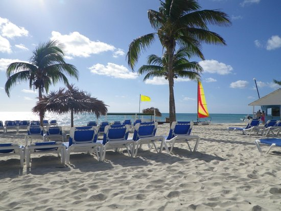 Viva Wyndham Fortuna Beach: Lots of chairs on the beautiful beach