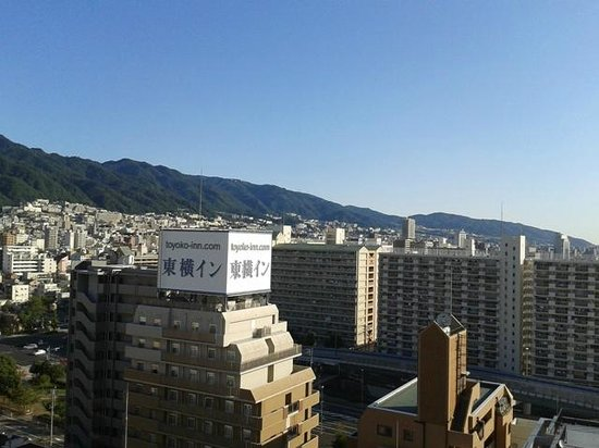 Kobe Sannomiya Union Hotel: View from room (15F) towards mountain