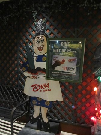 Buca di Beppo: Out front as you enter