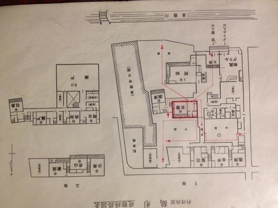 Tsurugata: hotel floor plan - all rooms are unique