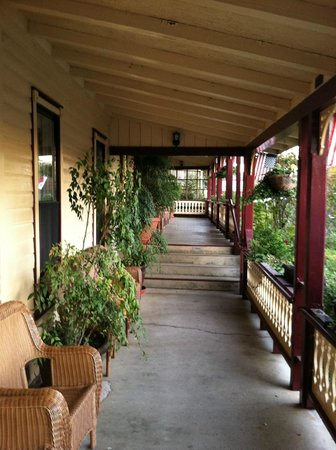 Julian Gold Rush Hotel: our room was the far end of this lovely Main St. facing porch