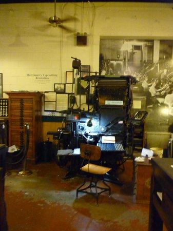Baltimore Museum of Industry: The amazing linotype machine here