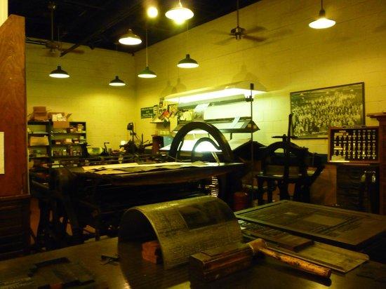 Baltimore Museum of Industry: Printers shop