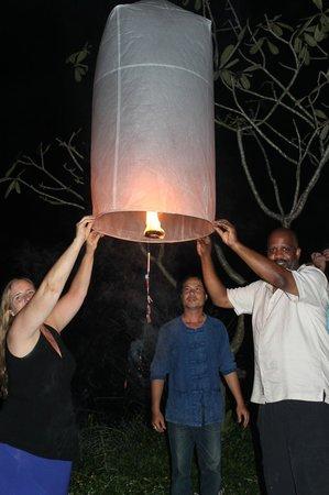 Baannamping Riverside Village: Lanna lantern festival at Baan Nam Ping