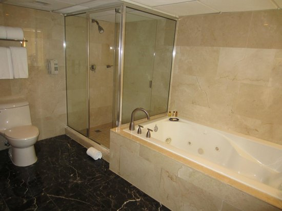 Sheraton Panama City: shower and tub