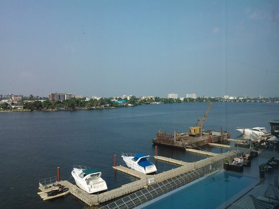 Radisson Blu Anchorage Hotel, Lagos: View from the room overlooking the river