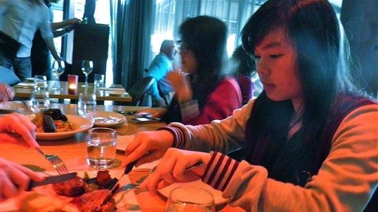 The Vista: Enjoying our dinner.