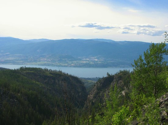 Myra Canyon Park: A view from the KVR