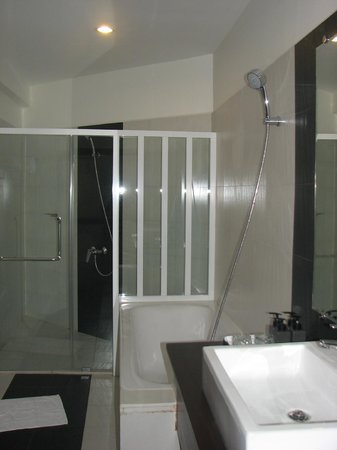 Skyline Boutique Hotel: shower and bath-tub