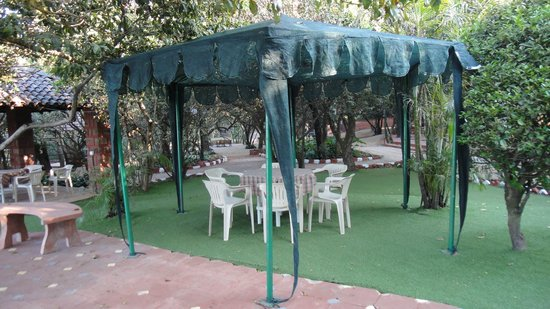Club Mahindra Mahabaleshwar Sherwood: Sitting area in garden facing pool
