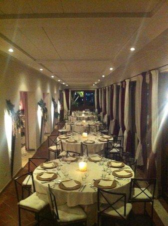Gina a porto romano : cena aziendale in veranda
