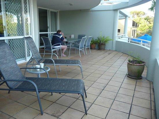 Sundancer Holiday Apartments: Full size of varendah - excuse my husband