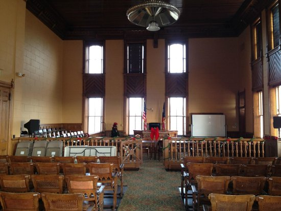 Presidio County Courthouse: The district court's courtroom on the second floor