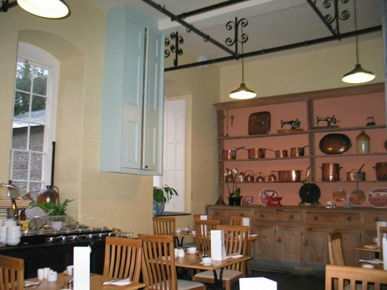 Nanteos Mansion: Having breakfast in the mansion's renovated kitchen.