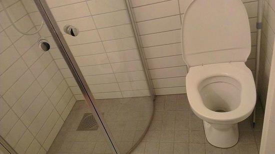 Sjoglott Hotel : Basic toilet and shower