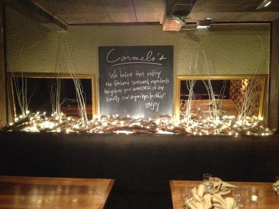 Carmelo's Restaurant: Inside restaurant.