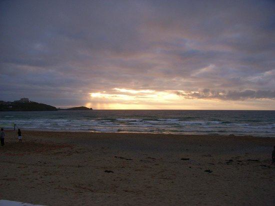 Tolcarne Beach Apartments: sunset
