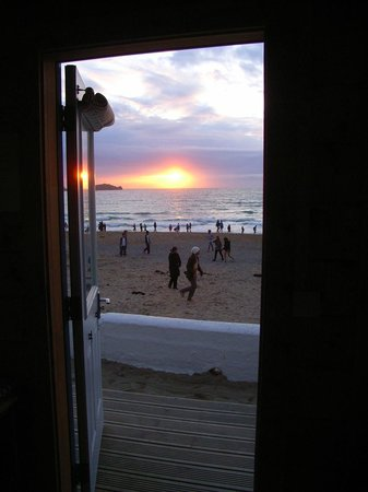 Tolcarne Beach Apartments: view from inside room