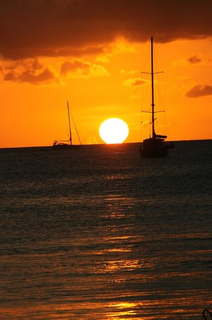 The Landings St. Lucia: Sunset from the Beach Club Restaurant