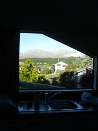 Lake Tekapo Holiday Homes: view from kitchen