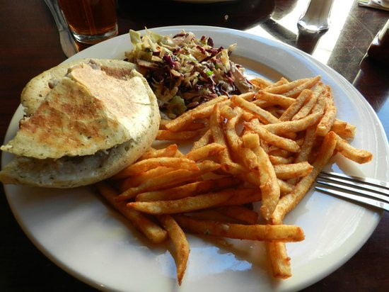 The Royal Scam: Roasted duck panini w/ asian slaw