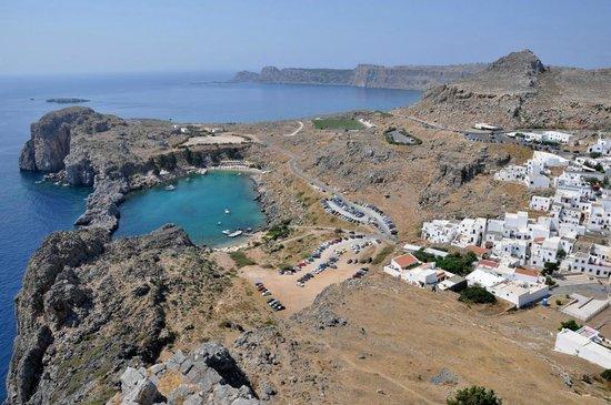 Agios Pavlos Beach (Saint Paul): St Paul Bay dall'Acropoli
