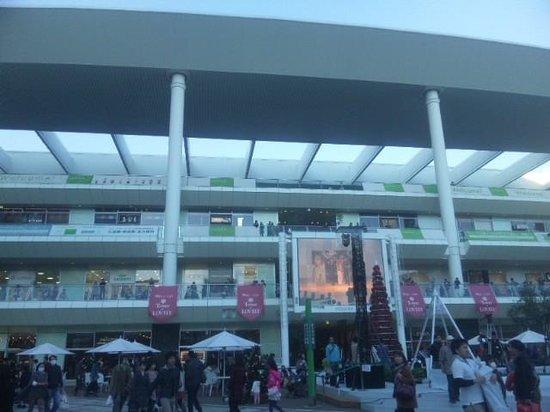 Lazona Kawasaki Plaza: 中庭からの建物