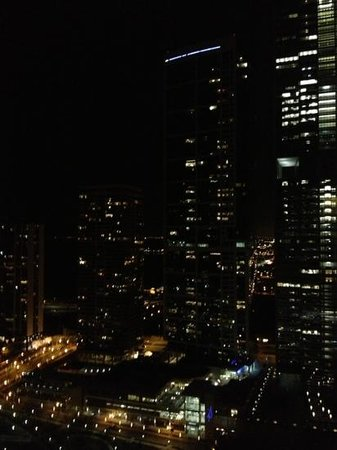 Swissotel Chicago: Night time view from King Suite on 31st floor.