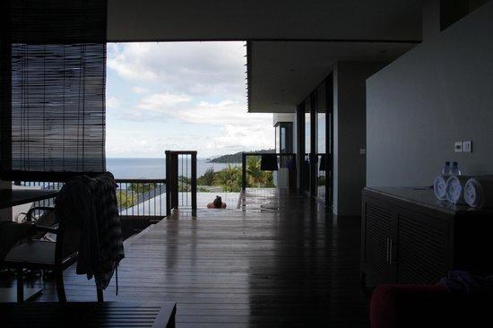 Raffles Seychelles: vue sur la piscine privée