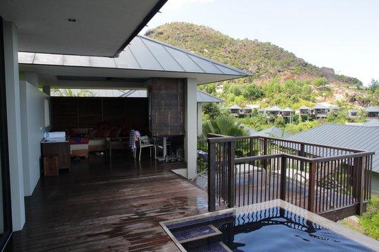 Raffles Seychelles: terrasse couverte