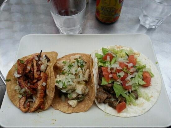 El Guacamole : tacos porc, poulet, bœuf