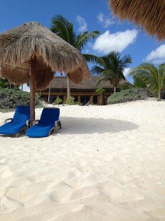 Hip Hotel Tulum: Cabana vid stranden