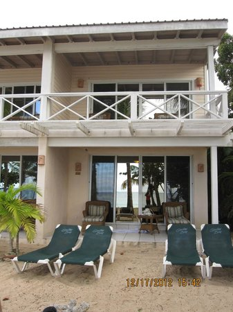 Galley Bay Resort: Top and bottom patio of the beachfront cottage