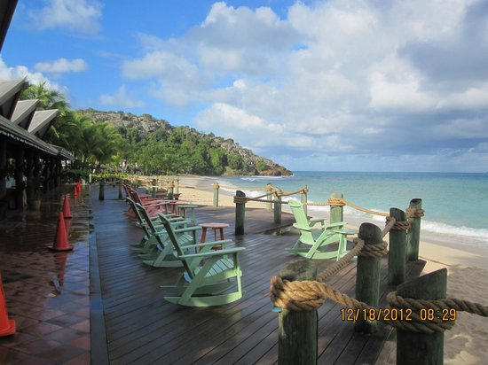Galley Bay Resort & Spa: Boardwalk/Lounge area view