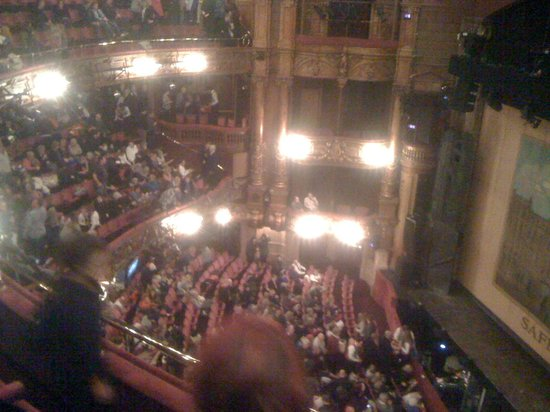 London Palladium: From my seat. Upper circle