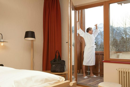 Hotel Oberstdorf: Balkon mit tollem Bergblick