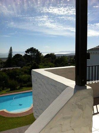Montrose Guesthouse: Aussicht von der Terrasse unseres Apartments bis zum Kap