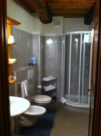 Chalet Faure & SPA : Il bagno è comodo e completo del necessario
