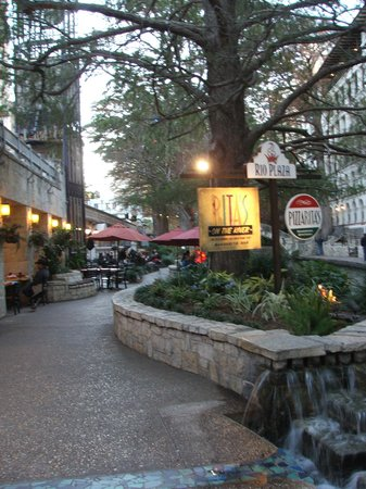 View Of The Riverwalk From Rita S Outdoor Tables Picture