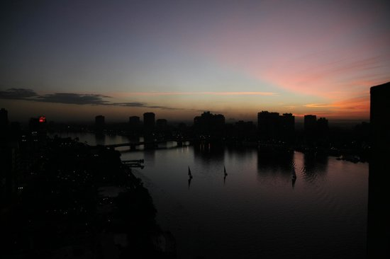 Grand Nile Tower: sunset